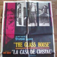 Cine: LA CASA DE CRISTAL. POSTER ESTRENO 100X70. VIC MORROW, ALAN ALDA. Lote 33073874