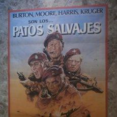 Cine: PATOS SALVAJES. RICHARD BURTON, ROGER MOORE, RICHARD HARRIS, KRUGER. AÑO 1978.. Lote 85602119
