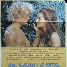 Cine: CARTEL EL LAGO AZUL. 1980. 70 X 100. ESPAÑA. Lote 33108311