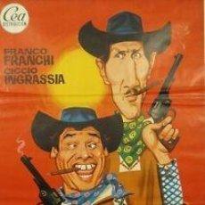 Cine: CARTEL CINE.DOS CARADURAS EN TEXAS.JANO.FRANCHI/INGRASS. Lote 33179295