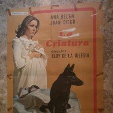 Cine: LA CRIATURA. ANA BELEN, JUAN DIEGO, CLAUDIA GRAVI. . Lote 33207432