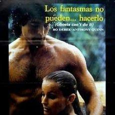 Cine: CARTEL LOS FANTASMAS NO PUEDEN...HACERLO. C.1985. Lote 33208628
