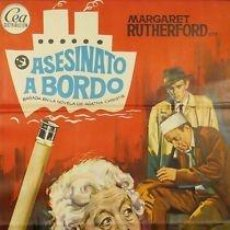 Cine: CARTEL CINE.ASESINATO A BORDO.JANO.JEFFRIES/RUTHERFORD. Lote 173060444