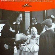 Cine: CARTEL FESTIVAL DE CINEMA DE BARCELONA 1988.35X48 CM.. Lote 33223683
