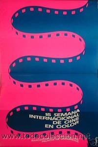CARTEL 15 SEMANA DEL CINE EN COLOR, 1973. MORADELL (Cine - Posters y Carteles - Documentales)