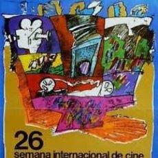 Cine: CARTEL 26 SEMANA INTERNACIONAL CINE.1981.VIDAL.34X48 CM. Lote 33223949
