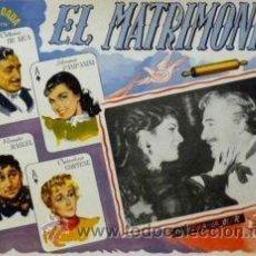 Cine: CARTEL EL MATRIMONIO.C. 1955.VITTORIO DE SICA/PAMPANINI. Lote 33224015