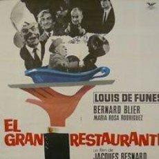 Cine: CARTEL CINE.EL GRAN RESTAURANT.LOUIS DE FUNES/RODRIGUEZ. Lote 33240837