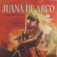 Cine: CARTEL JUANA DE ARCO.1970.70X100 (FLEMING-FERER-BERGMAN). Lote 33241078