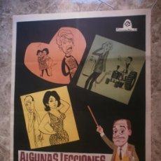 Cine: ALGUNAS LECCIONES DE AMOR. JOSE LUIS LOPEZ VAZQUEZ, GRACITA MORALES. AÑO 1966.. Lote 128025831