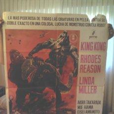 Cine: CARTEL KING KONG SE ESCAPA (1967) ISHIRO HONDA. Lote 33252402