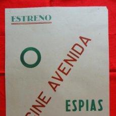 Cine: ESPIAS EN EL MAR, CONRAD VEIDT, CARTELITO LOCAL AÑOS 50(45X32) CINE AVENIDA. Lote 33252814