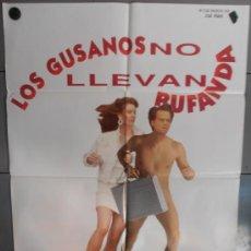 Cine: LOS GUSANOS NO LLEVAN BUFANDA, CARTEL DE CINE ORIGINAL 70X100 APROX (1787). Lote 33296443