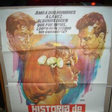Cine: HISTORIA DE UNA MUJER ROBERT STACK BIBI ANDERSSÖN POSTER ORIGINAL 70X100 YY(468). Lote 33304142