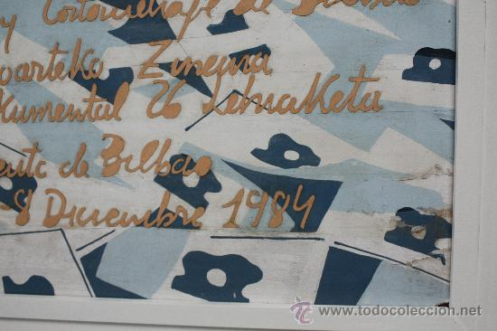 Cine: CARTEL ORIGINAL, TÉCNICA MIXTA SOBRE TABLEX, BILBAO 1984. 26 CERTAMEN INTERNACIONAL DE CINE. - Foto 8 - 33308439