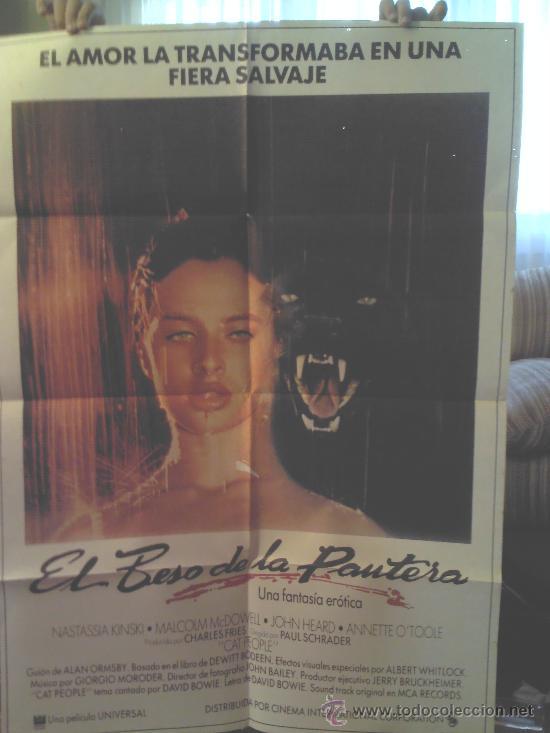 CARTEL EL BESO DE LA PANTERA (1981) NASTASSIA KINSKI (Cine - Posters y Carteles - Ciencia Ficción)