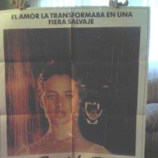 Cine: CARTEL EL BESO DE LA PANTERA (1981) NASTASSIA KINSKI. Lote 33320566