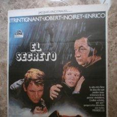 Cine: EL SECRETO. JEAN-LOUIS TRINTIGNANT, MARLENE JOBERT, PHILIPPE NOIRET. AÑO 1975.. Lote 33356166
