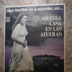 Cine: AQUELLA CASA EN LAS AFUERAS. JAVIER ESCRIVA, SILVIA AGUILAR, ALIDA VALLI. . Lote 33356845