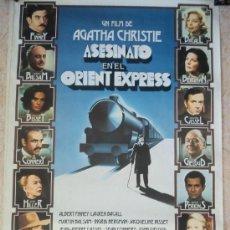 Cine: CARTEL ORIGINAL DE CINE PELÍCULA ASESINATO EN EL ORIENT EXPRESS (1974). GRAN TAMAÑO. MUY BUEN ESTADO. Lote 234584895