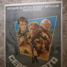 Cine: CERCO ROTO. RICHARD BURTON, ROBERT MITCHUM, ROD STEIGER. AÑO 1979.. Lote 33380769