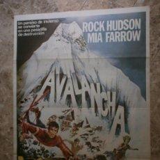 Cine: AVALANCHA. ROCK HUDSON, MIA FARROW, ROBERT FORSTER. AÑO 1978.. Lote 191784433