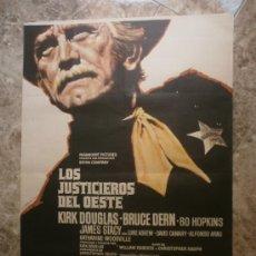 Cine: LOS JUSTICIEROS DEL OESTE. KIRK DOUGLAS, BRUCE DERN. AÑO 1975.. Lote 33395948