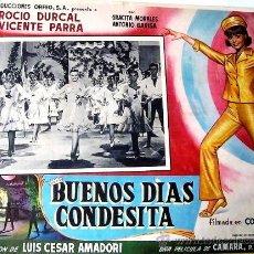 Cine: ROCIO DURCAL - BUENOS DIAS CONDESITA - VICENTE PARRA - GRACITA MORALES - LOBBY CARD ORIGINAL MEXICAN. Lote 33399317
