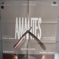 Cine: AMANTES,V.ABRIL, JORGE SANZ, MARIBEL VERDU CARTEL DE CINE ORIGINAL 70X100 APROX (2014). Lote 33399659