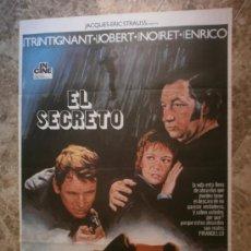 Cine: EL SECRETO. JEAN-LOUIS TRINTIGNANT, MARLENE JOBERT, PHILIPPE NOIRET. AÑO 1975.. Lote 33402368