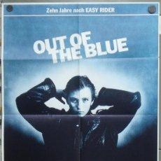 Cine: YC71D CAIDO DEL CIELO OUT OF THE BLUE DENNIS HOPPER POSTER ORIGINAL ALEMAN 60X84. Lote 33442168
