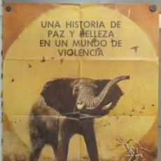 Cine: PM70 EL COLOSO DE LA SELVA ELEFANTE DOCUMENTAL AFRICA POSTER ORIGINAL ESTRENO 70X100. Lote 33443086