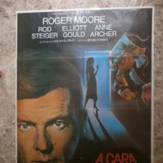 Cine: A CARA DESCUBIERTA. ROGER MOORE, ROD STEIGER, ELLIOTT GOULD, ANNE ARCHER. AÑO 1984.. Lote 33464489