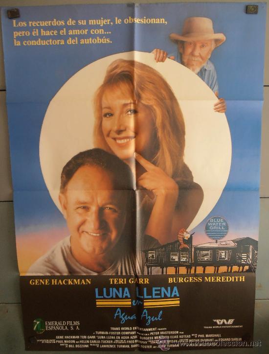 LUNA LLENA EN AGUA AZUL, CARTEL DE CINE ORIGINAL 70X100 APROX (2276) (Cine - Posters y Carteles - Comedia)