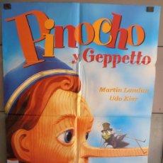 Cine: PINOCHO Y GEPPETTO, CARTEL DE CINE ORIGINAL 70X100 APROX (2321). Lote 33501638