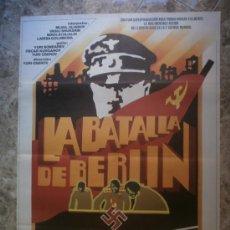 Cinema: LA BATALLA DE BERLIN. MIJAIL ULIANOV, VASILI SHUKSHIN, NIKOLAI OLIALIN. AÑO 1978.. Lote 33510307
