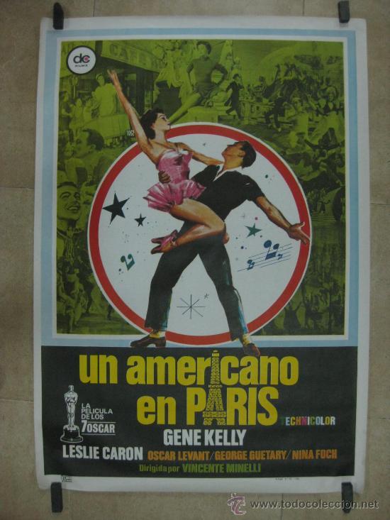 UN AMERICANO EN PARIS - GENE KELLY, LESLIE CARON - AÑO 1980 (Cine - Posters y Carteles - Musicales)