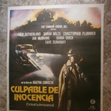 Cine: CULPABLE DE INOCENCIA. DONALD SUTHERLAND, SARAH MILES, CHRISTOPHER PLUMMER. AÑO 1985.. Lote 33658754