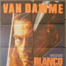 Cine: BLANCO HUMANO,VAN DAMME CARTEL DE CINE ORIGINAL 70X100 APROX (2601). Lote 33761155
