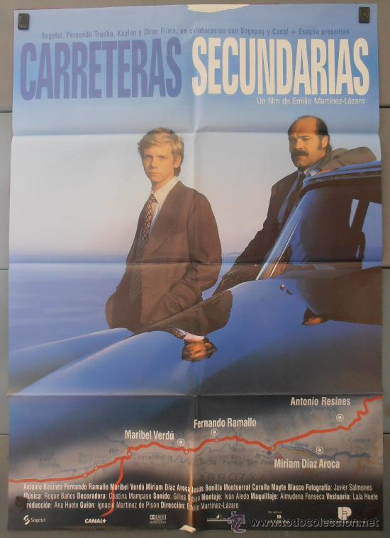 CARRETERAS SECUNDARIAS,MARIBEL VERDU, ANTONIO RESINES CARTEL DE CINE ORIGINAL 70X100 APROX (2691) (Cine - Posters y Carteles - Clasico Español)
