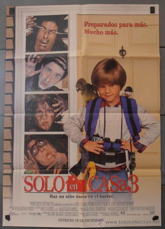 SOLO EN CASA 3, CARTEL DE CINE ORIGINAL 70X100 APROX (2699) (Cine - Posters y Carteles - Infantil)