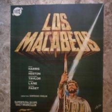 Cine: LOS MACABEOS. BRAD HARRIS, JOHN HESTON, MARGARET TAYLOR, MARA LANE. AÑO 1964.. Lote 33804521
