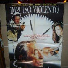 Cine: IMPULSO VIOLENTO ROBERT MITCHUM MICHAEL BRANDON POSTER ORIGINAL 70X100 D144. Lote 33819050