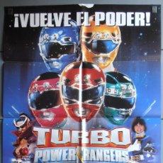 Cine: TURBO POWER RANGERS, CARTEL DE CINE ORIGINAL 70X100 APROX (2937). Lote 33853864