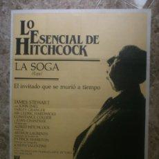 Cine: LA SOGA. LO ESENCIAL DE HITCHCOCK. JAMES STEWART, JOHN DALL. AÑO 1984.. Lote 33891903