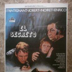 Cine: EL SECRETO. JEAN-LOUIS TRINTIGNANT, MARLENE JOBERT, PHILIPPE NOIRET. AÑO 1975.. Lote 33934244