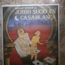 Cine: JUEGO SUCIO EN CASABLANCA. WILLIAM BERGER, ANALIA IVARS. . Lote 33995496