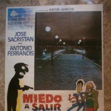 Cine: MIEDO A SALIR DE NOCHE. JOSE SACRISTAN, ANTONIO FERRANDIS. AÑO 1980.. Lote 288462908