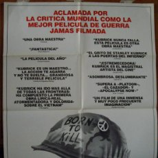 Cine: LA CHAQUETA METÁLICA, DE STANLEY KUBRICK. POSTER.. Lote 34065589