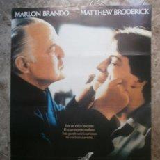 Cine: EL NOVATO. MARLON BRANDO, MATTHEW BRODERICK. AÑO 1990. Lote 34073892